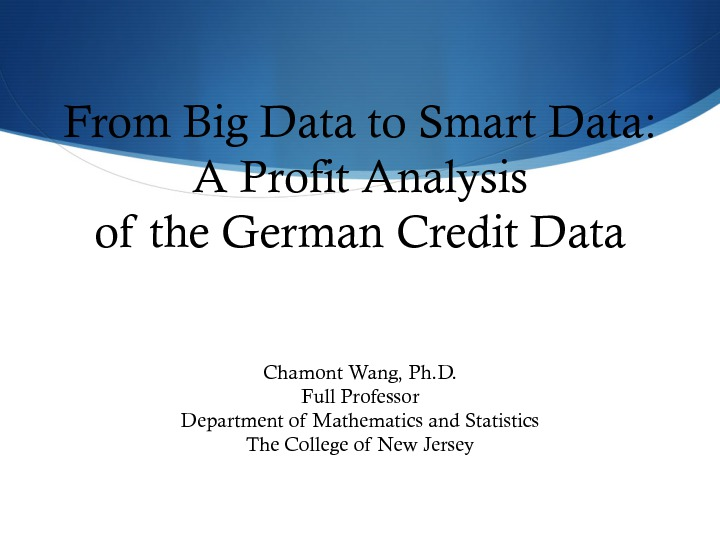 German Credit Data Analysis