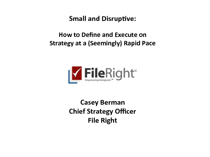 On Demand Presentations Small And Disruptive How To