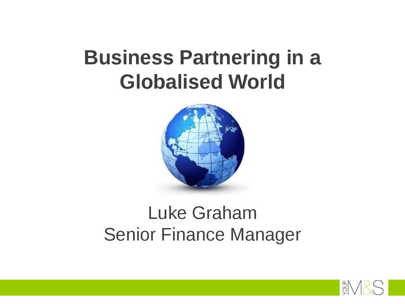 Business Partnering in a Globalised World  image