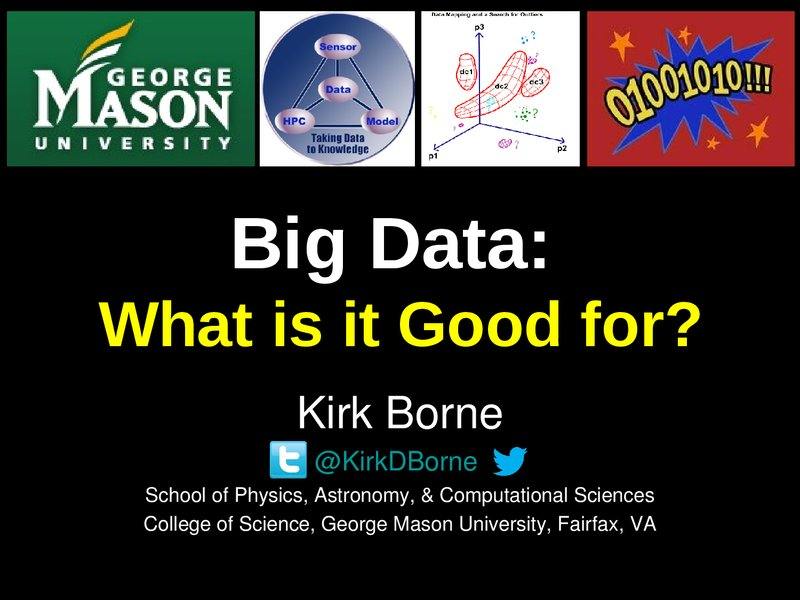 Big Data: What is it Good for?  image