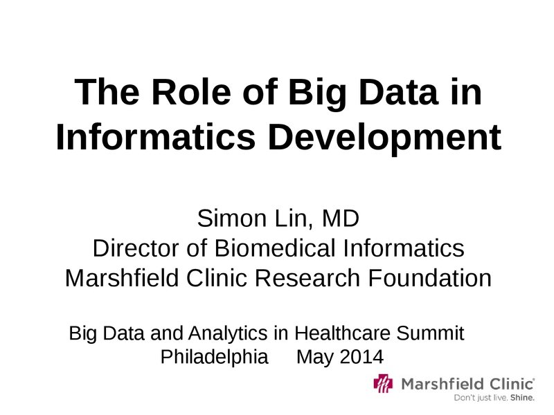 the role of informatics in the