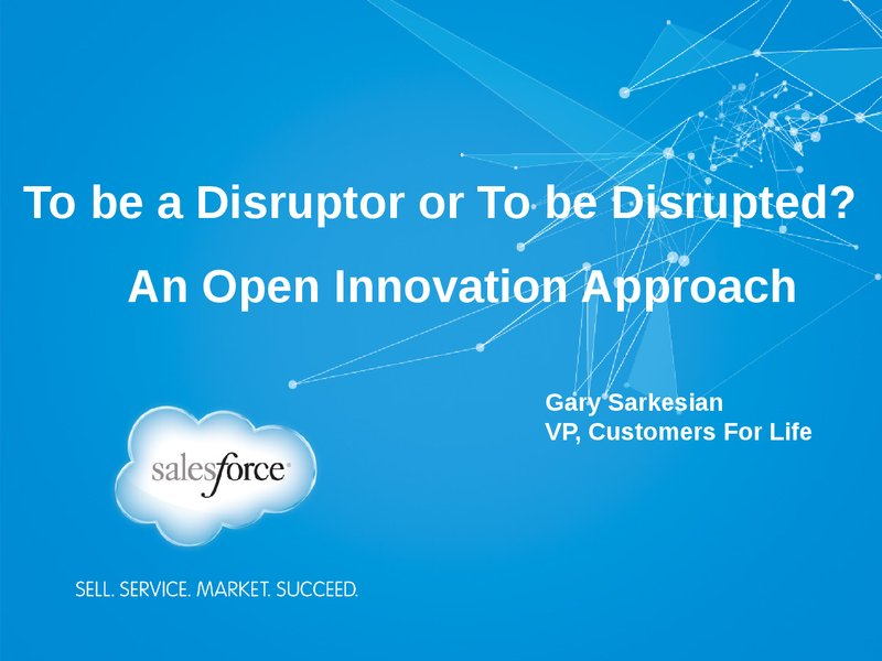 salesforce idea for disruptive innovation