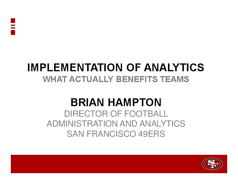 Implementation of Analytics: What Actually Benefits Teams