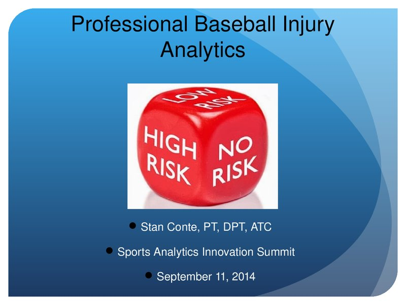 Professional Baseball Injury Analytics image