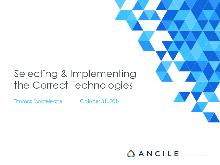 Selecting & Implementing the Correct Technologies image
