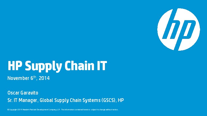 hp deskjet supply chain 2-1 possible points of differentiation in the supply chain            hp ships  its deskjet plus printers to north america, europe, asia, and.