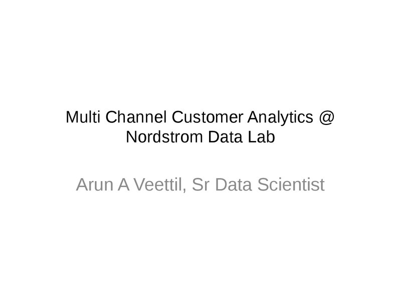Multi-Channel Analytics at Nordstrom Data Labs image