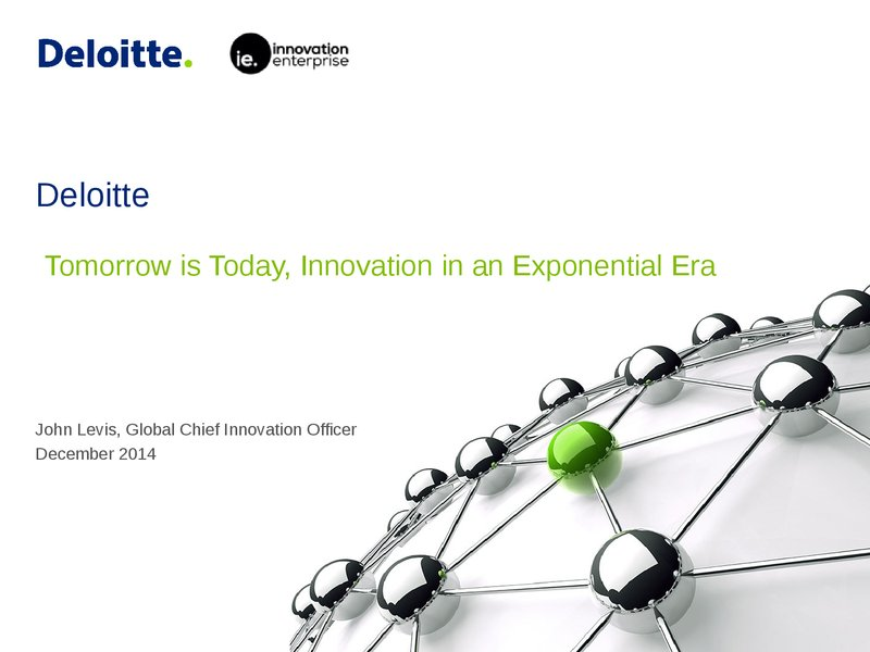 On Demand | Presentations | Tomorrow is Today: Innovation in