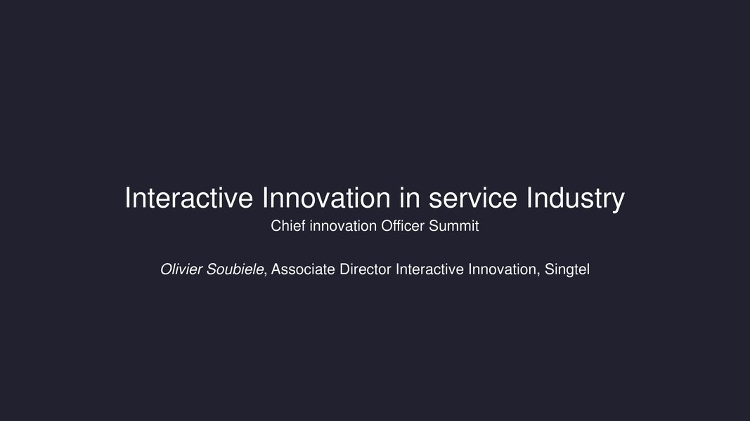 Interactive Innovation in Telecommunication Industry