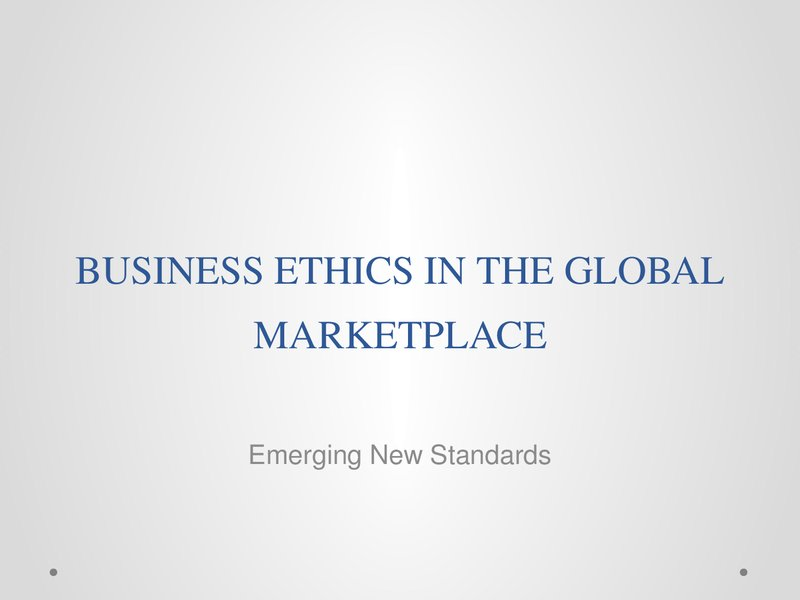 ethical obligations of a multinational business