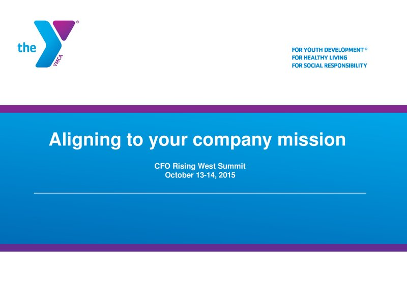 Aligning to your Company Mission