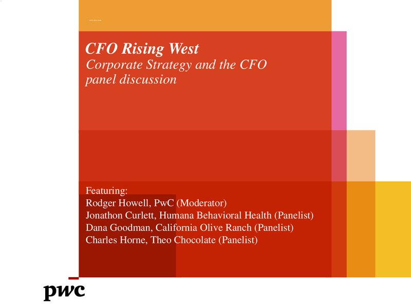 Panel Session: Corporate Strategy & the CFO