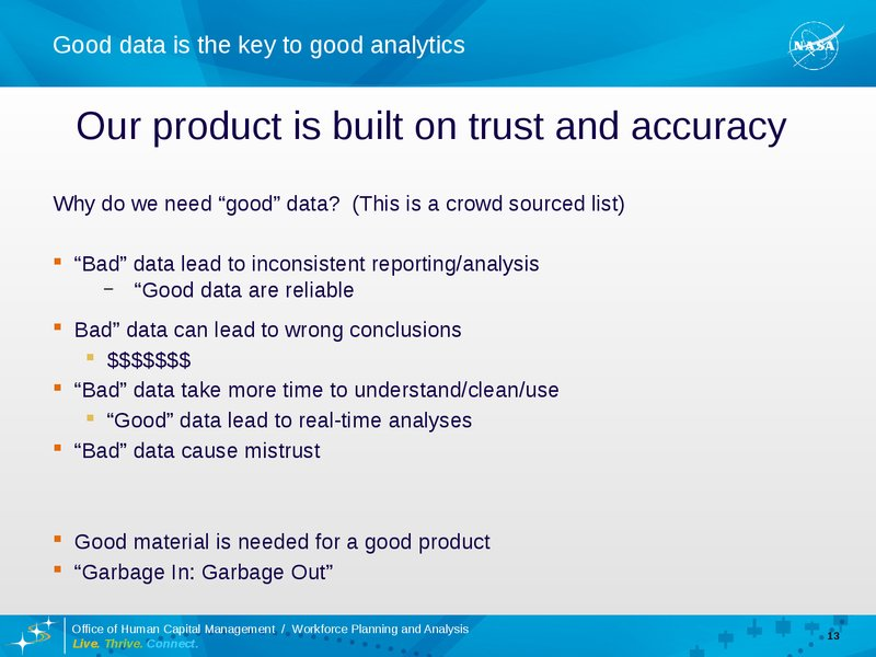 Good Data: The Key To Good Data Analytics | Presentations
