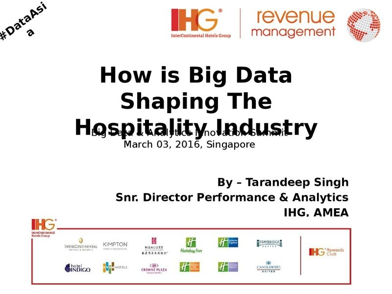 How is Big Data Shaping the Hospitality Industry?