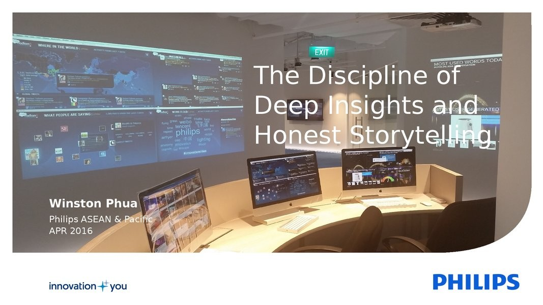 The Discipline of Deep Insights and Honest Storytelling presentation image