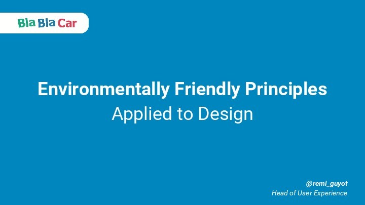 Our Environmentally Friendly Principles Applied to Design