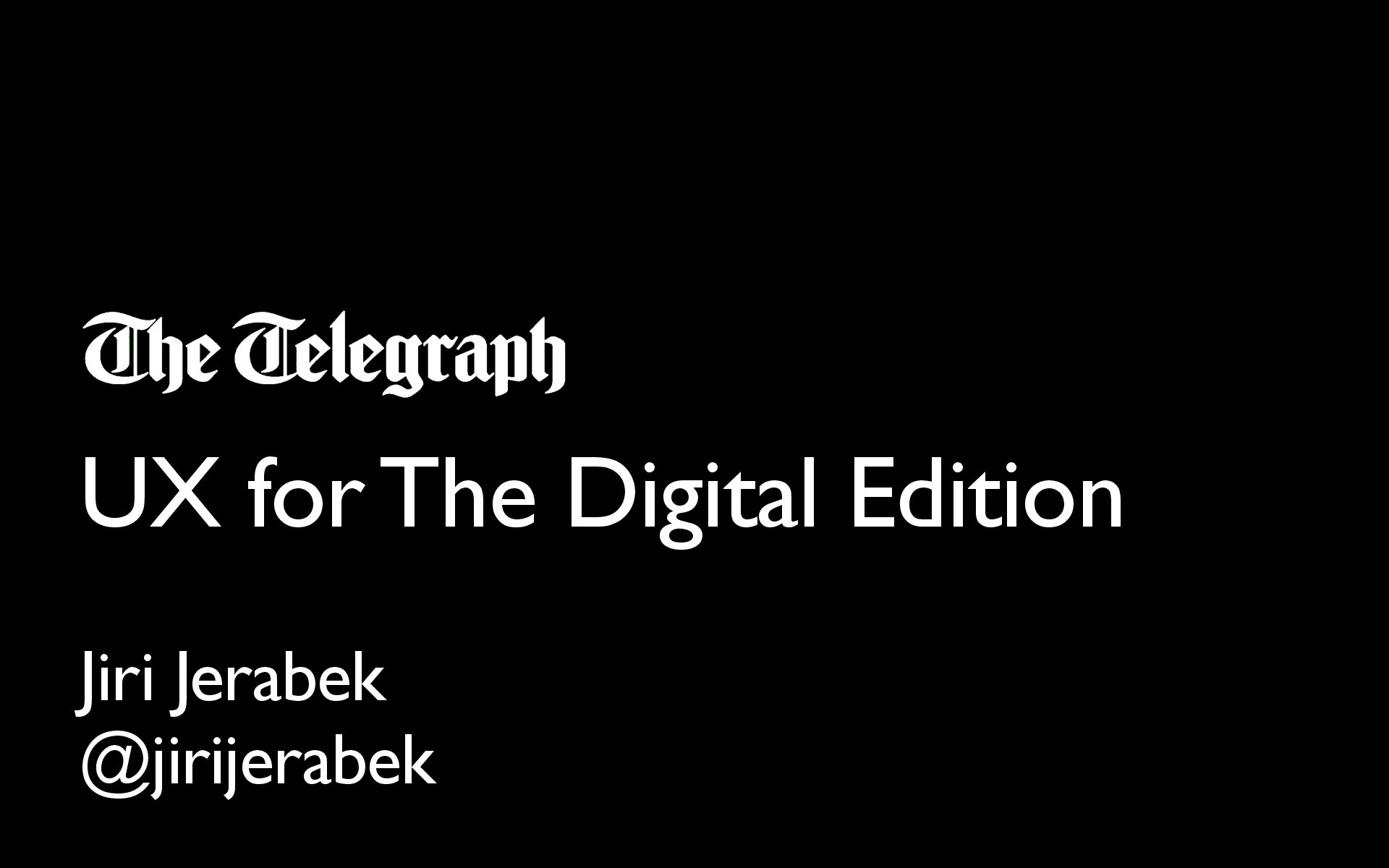 UX for Telegraph's Digital Edition image