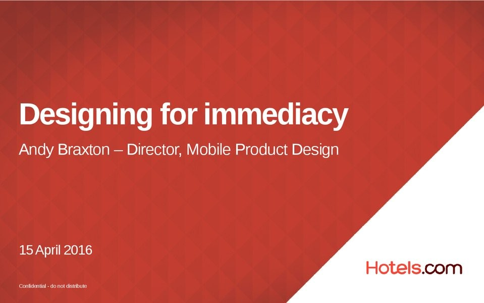 Designing for Immediacy