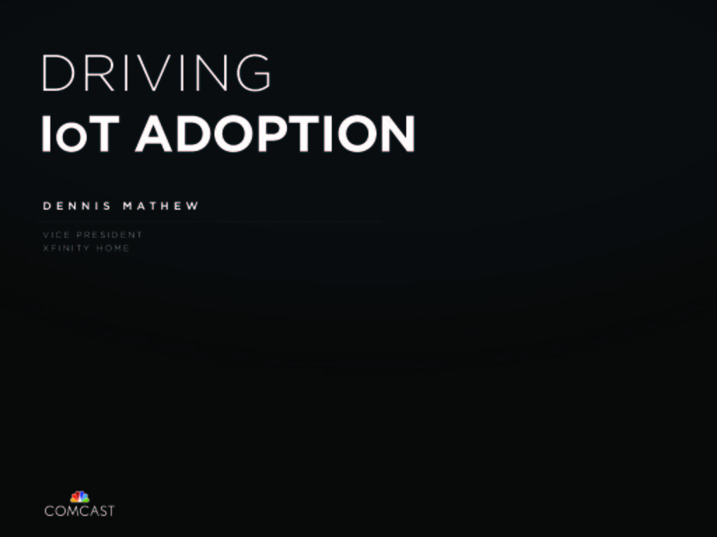 Accelerating IoT Adoption presentation image