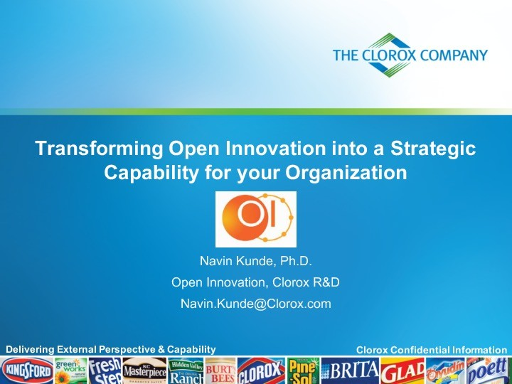 Transforming Open Innovation into a Strategic Capability for the R&D Organization