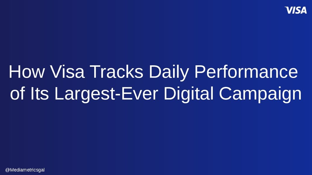 How Visa has Developed the use of Real-Time Data Platforms to Improve their Marketing Capabilities