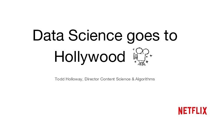 On Demand | Presentations | Data Science goes to Hollywood