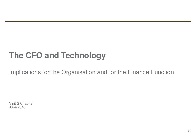 The CFO and Technology