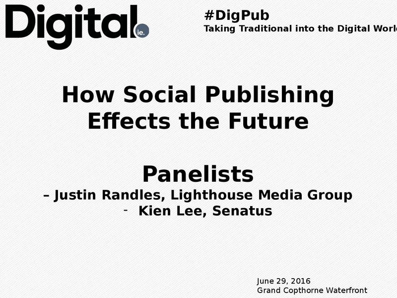 Panel: How Social Publishing is The Future