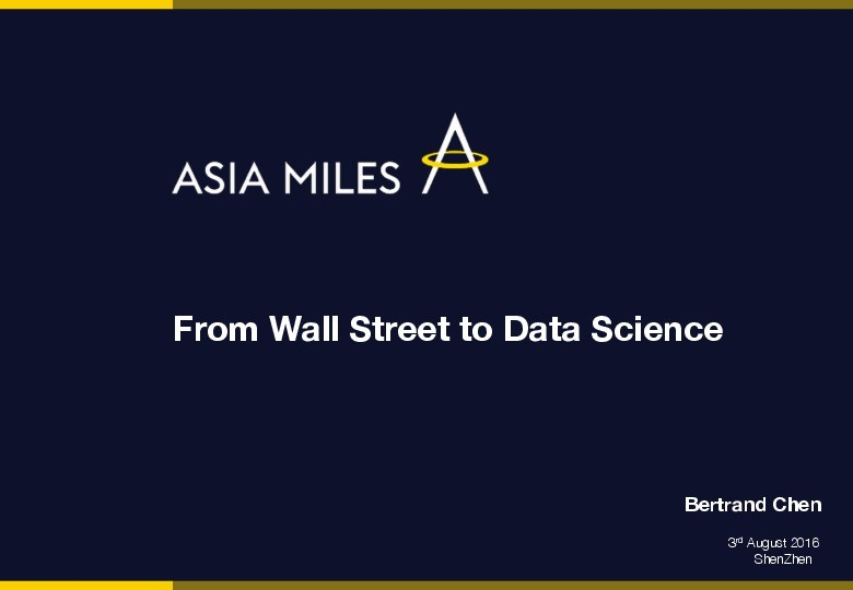 From Wall Street to Data Science presentation image