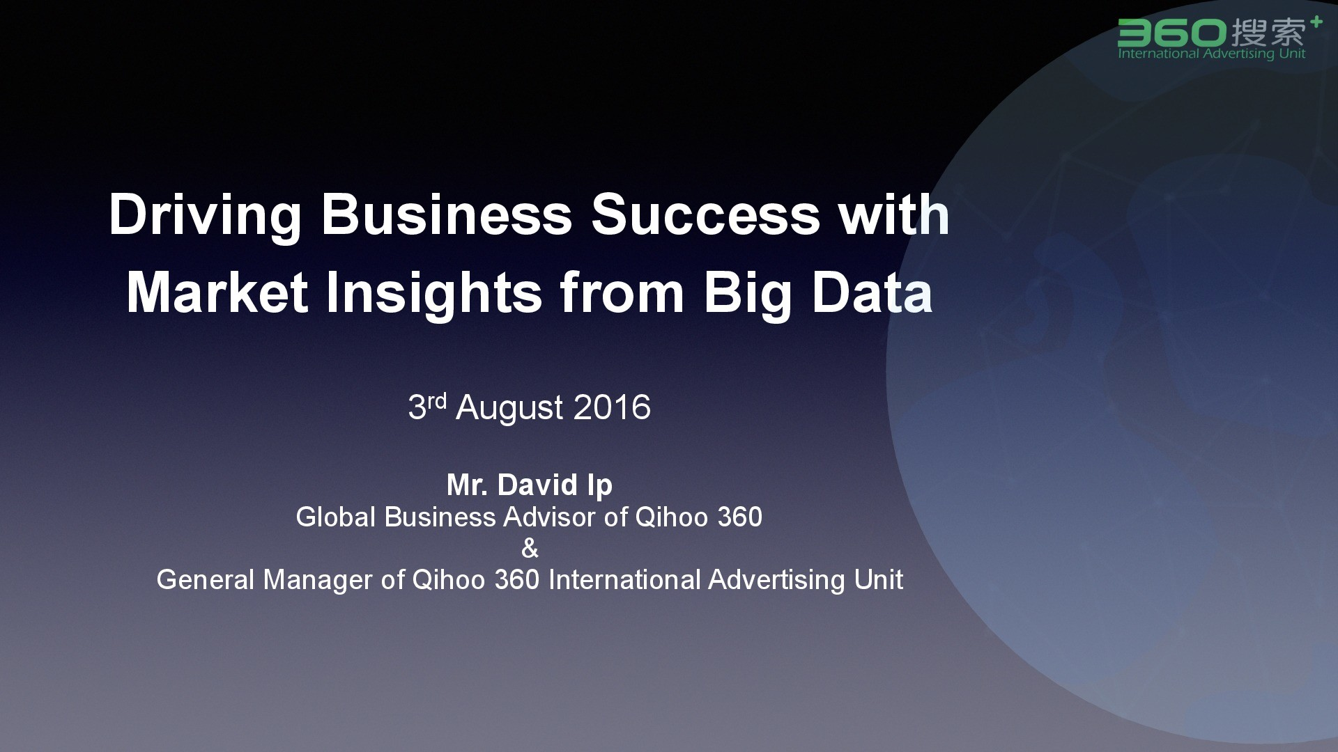 Driving Business Success with Market Insights from Big Data presentation image