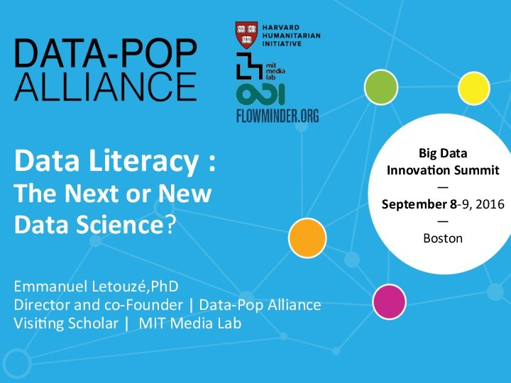 Data Literacy the New or Next Data Science? presentation image
