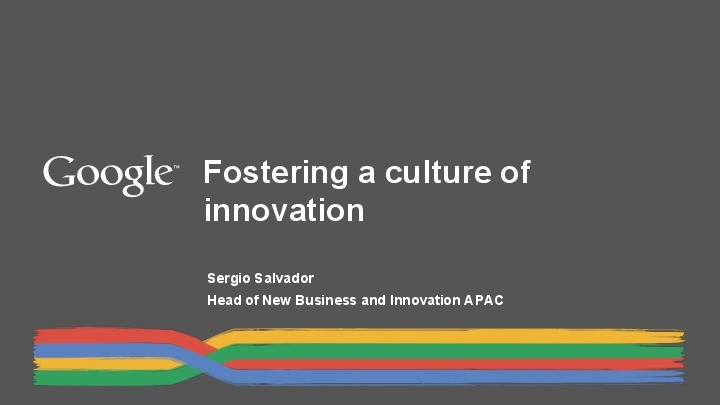 Innovation Culture Facilitates Breakthroughs inTechnology Products presentation image