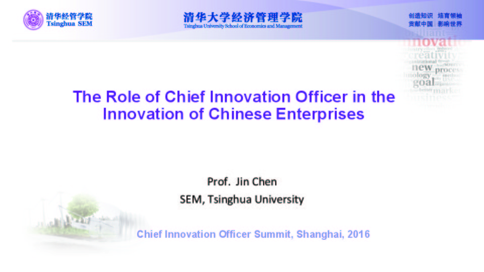 Innovation Governance and Future Role of Chief Innovation Officer