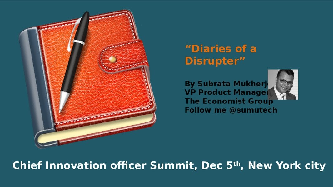 Diaries of a brave Disruptor image