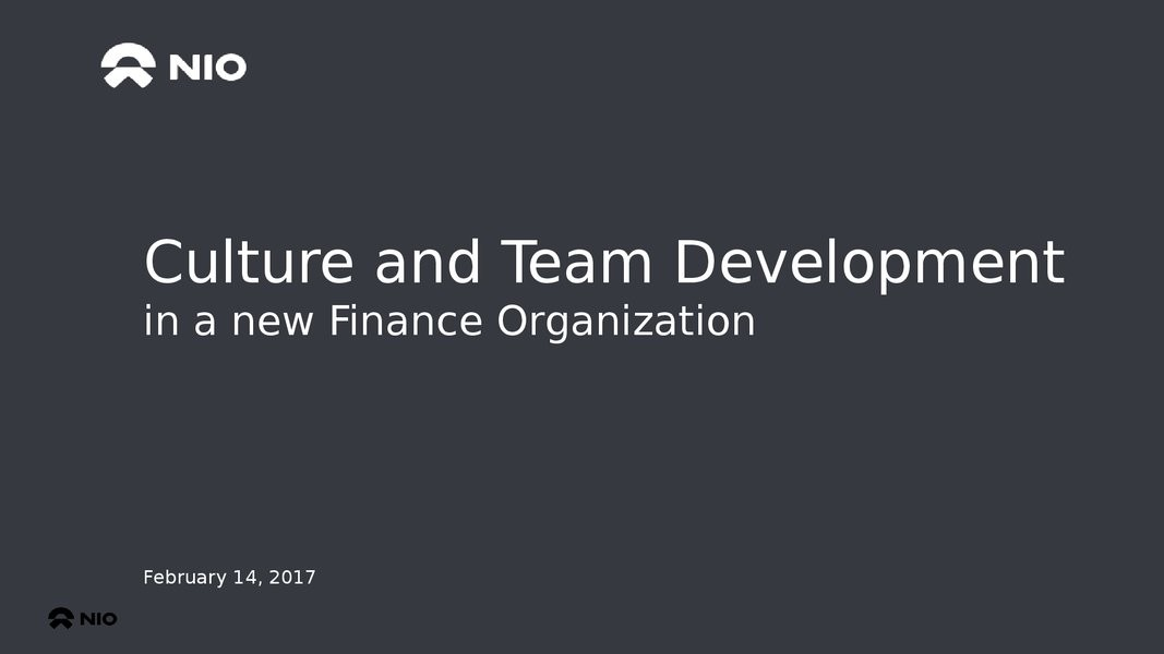 Culture and Team Development in a New Finance Organization image
