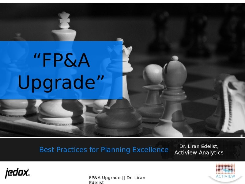 FP&A Upgrade: Best Practices for Planning Excellence presentation image