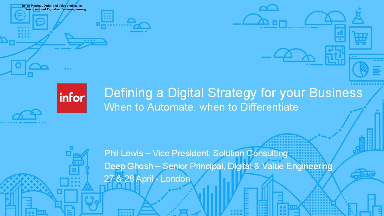 Defining a Digital Strategy for your Business – When to Automate and When to Differentiate presentation image