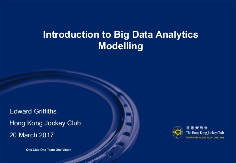 Introduction to Big Data Analytics Modelling  presentation image