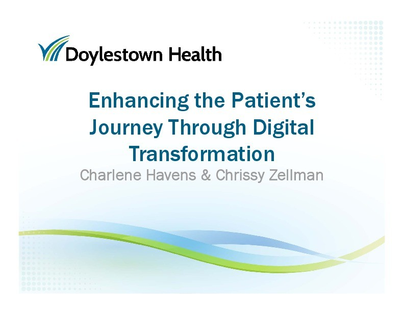 Enhancing the Patient's Journey Through Digital Transformation presentation image