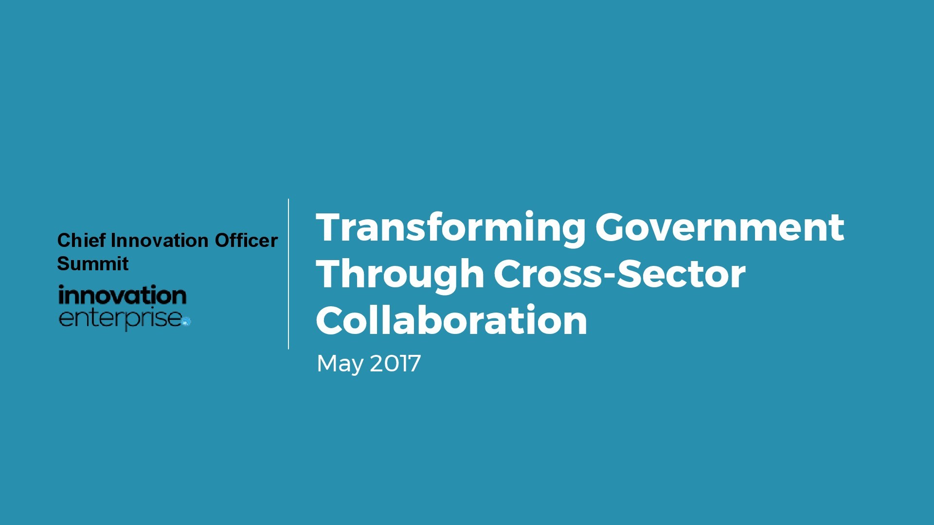 Image Result For Overview Chief Innovation Officer Summit Innovation