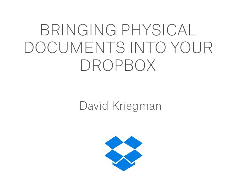 how to get photos into dropbox