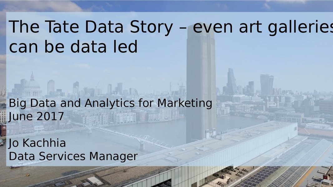 Tate's data story - Even Art Galleries Can Be Data-Driven