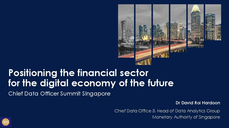 Positioning the Financial Sector for the Future Digital Economy