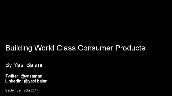 Building World Class Products image