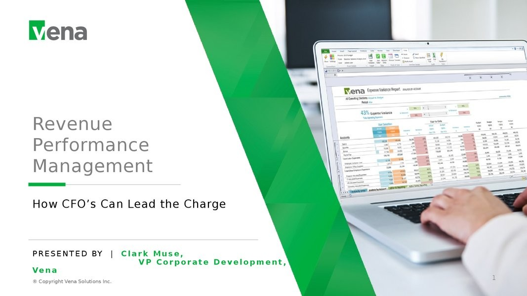 Revenue Performance Management - How CFO's Can Lead the Charge