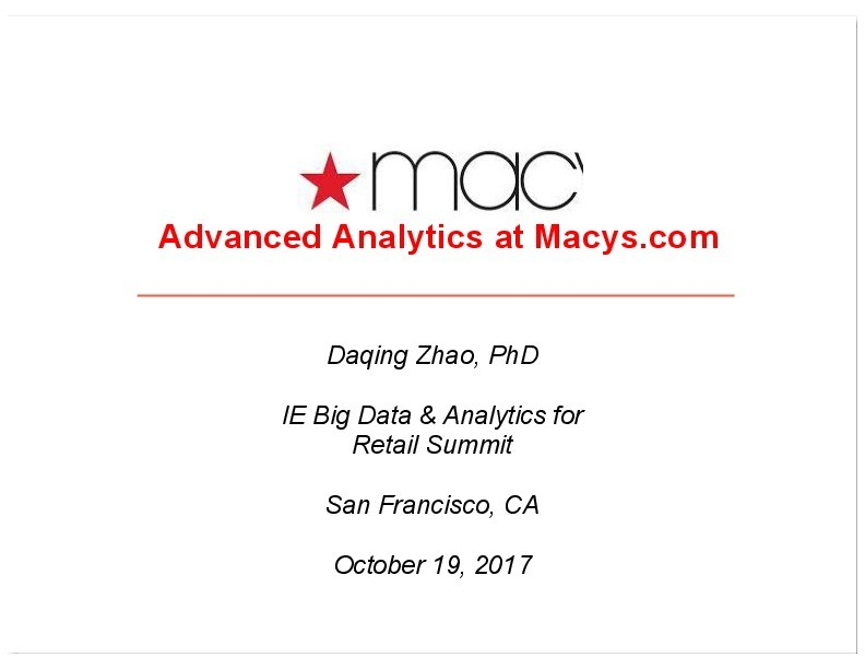 Macy's Big Data Personalization Efforts