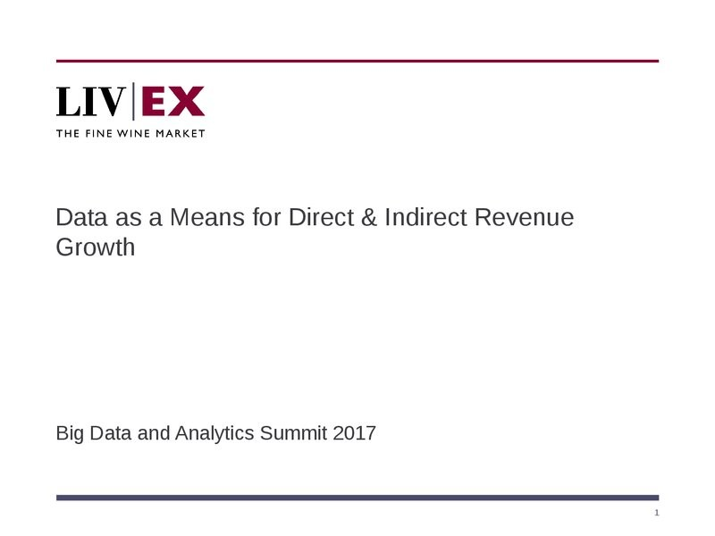 Data as a Means for Direct & Indirect Revenue Growth