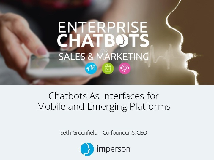 Chatbots As Interfaces for Mobile and Emerging Platforms — Insights from National Geographic's Genius Chatbot and More