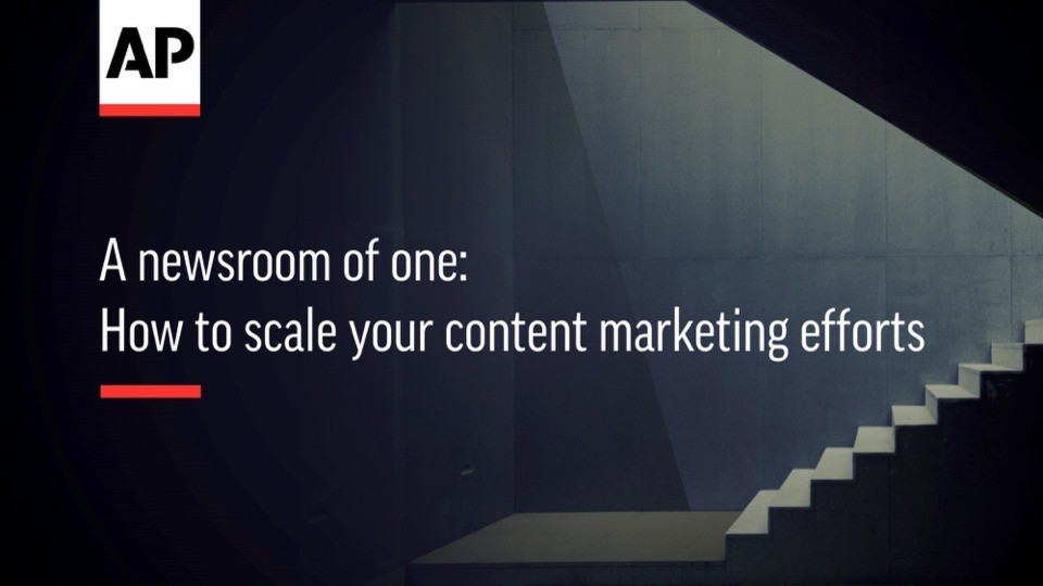 A newsroom of one: How to scale your content marketing efforts