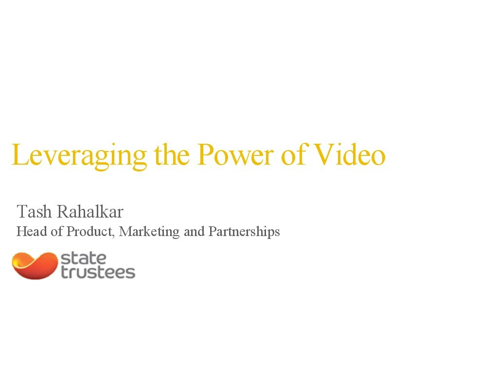 On Demand | Presentations | Leveraging power of video to